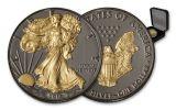 2017 1 Dollar 1-oz Silver Eagle Black Ruthenium BU