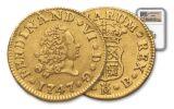 1742-1788 Spain Gold Half Escudo NGC AU