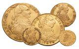 1742-1799 Spain Gold Escudo VF 5-Pc Set