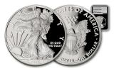 2017-W 1 Dollar 1-oz Silver Eagle Proof NGC PF70UCAM Silver Foil Label - Black