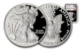 2017-W 1 Dollar 1-oz Silver Eagle Proof NGC PF70UCAM Mercanti - Black