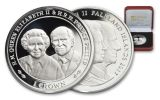 2017 Great Britain 2 Pound Silver Queen Elizabeth II and Prince Philip 90th Birthday Proof