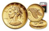 2017-W 100 Dollar 1-oz Gold Liberty High Relief Proof NGC PF70UCAM 225th Anniversary - Black