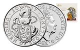 2017 United Kingdom 5 Pound Cupro Queen's Beasts Unicorn Brilliant Uncirculated
