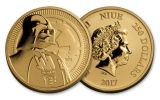 2017 Niue 1-oz Gold Star Wars Darth Vader BU