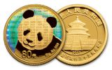 2017 China Gold and Silver Panda Proof 35th Anniversary 2pc Set