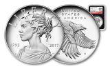 2017-P 1-oz Silver American Liberty Medal NGC PF70UCAM- 225th- Black
