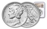 2017-P 25 Dollar 1-oz Palladium American Eagle High-Relief NGC MS70 First Releases Weinman Label