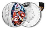 2018 Solomon Islands 5 Dollar 1-oz Silver Tom Brady Colored Proof