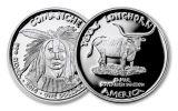 2016 Texas 1 Dollar 1-oz Silver Longhorn Comanche Proof
