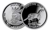 2017 Indiana 1 Dollar 1-oz Silver Miami Mink Proof