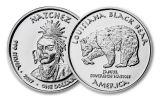 2017 Louisiana 1 Dollar 1-oz Silver Natchez Black Bear Proof