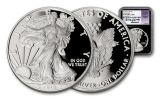 2018-W 1 Dollar 1-oz Silver Eagle NGC PF70UCAM First Releases Jones Signed - Black