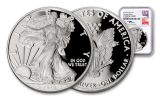 2018-W 1 Dollar 1-oz Silver Eagle NGC PF70UCAM First Day Of Issue Mercanti Signed