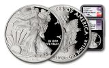 2018-W 1 Dollar 1-oz Silver Eagle NGC PF70UCAM First Releases Mercanti Jones Signed 2pc Set- Black