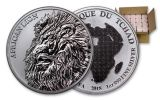 2018 Chad 5000 Franc 1-oz Silver African Lion Monster Box
