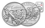 2018-P 1 Dollar Silver World War I Centennial NGC MS69 First Releases Everhart Signed