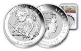 2018 Australia 1 Dollar 1-oz Silver Koala NGC MS70 First Releases