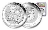 2018 Australia 1 Dollar 1-oz Silver Koala NGC MS70 First Day Of Issue