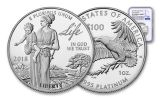 2018-W 100 Dollar 1-oz Platinum Eagle NGC PF70UCAM Early Releases