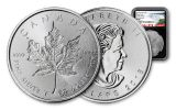 2018 Canada 1-oz Silver Incuse Maple Leaf NGC MS69 First Releases Canada Label - Black