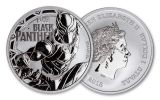 2018 Tuvalu 1 Dollar 1-oz Silver Black Panther Brilliant Uncirculated