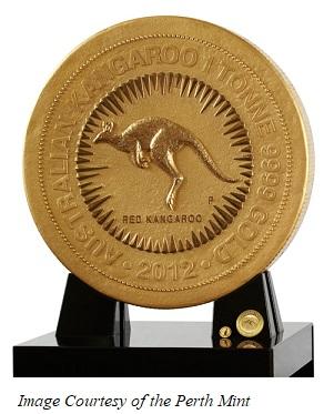 1 ton gold kangaroo
