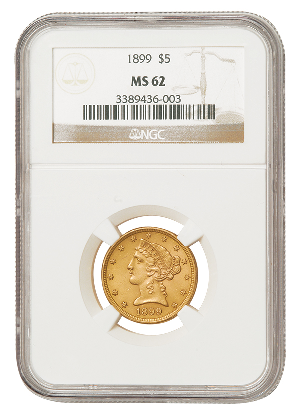 $5 Gold Liberty MS62