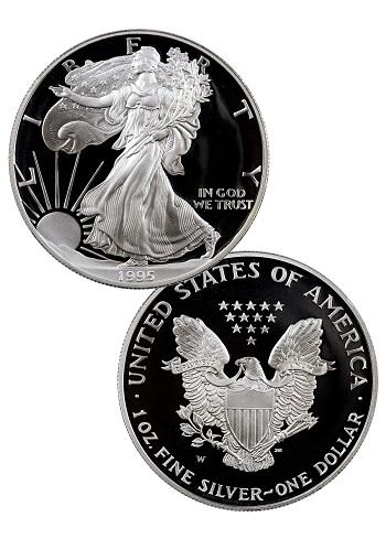 1995-W Proof Silver Eagle
