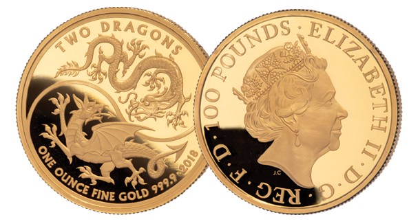 2018 Gold Two Dragons