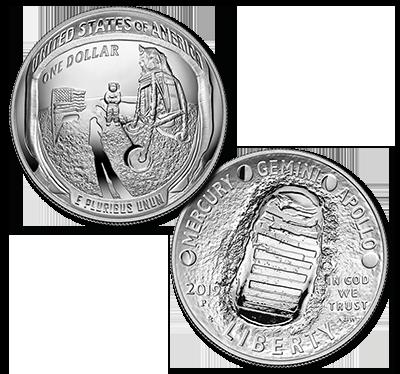 Apollo 11 silver dollar