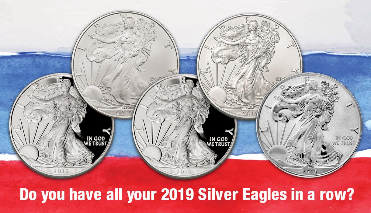 2019 American Silver Eagles