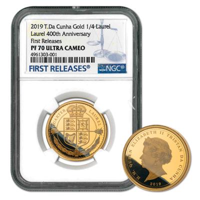 quarter laurel gold