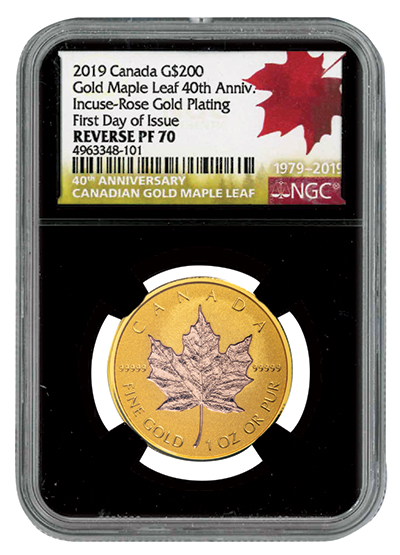 Gold Incuse Maple Leaf MS70