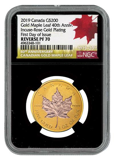 Gold Incuse Maple Leaf MS70