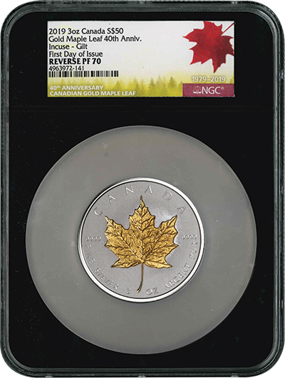 Silver Incuse Maple Leaf MS70