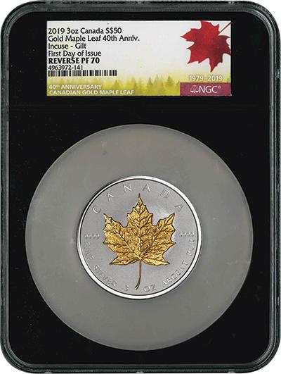 Silver Incuse Maple Leaf MS70