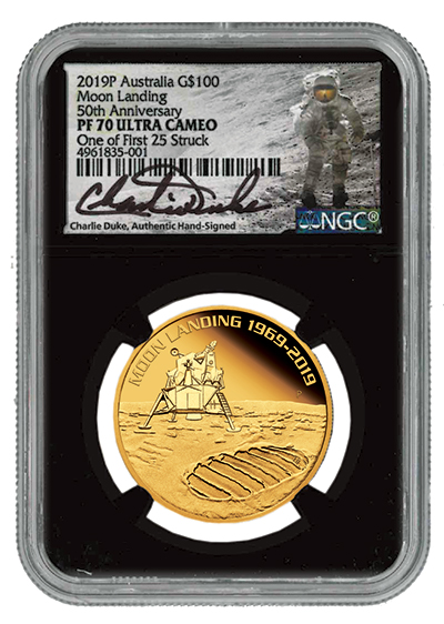 2019 One-Ounce Gold Apollo 11 Moon Landing Proof  PF70