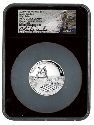 2019 Five-Ounce Silver Apollo 11 Moon Landing Proof  PF70