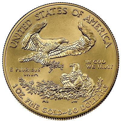 Burnished American Gold Eagle