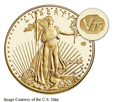 2020 American Gold Eagle with V75 Privy