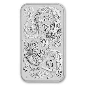 2020 Perth Mint Silver Dragon Bar