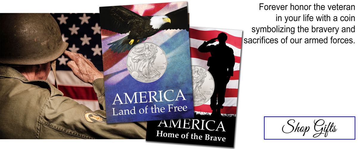 American Silver Eagles to Honor Veterans. Forever honor the veteran in your life with a coin symbolizing the bravery and sacrifices of our armed forces. Shop gifts.