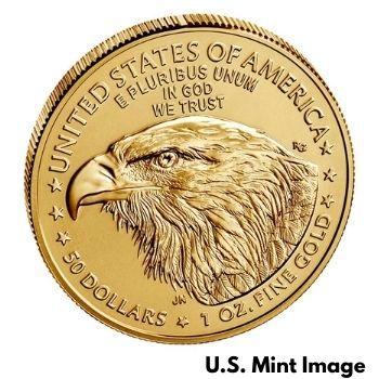 2021 Burnished Gold Eagle Type-2 Reverse Design
