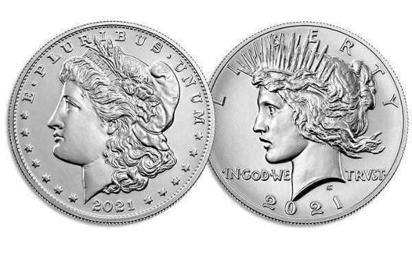 2021 Peace and Morgan Dollar Reverse Designs