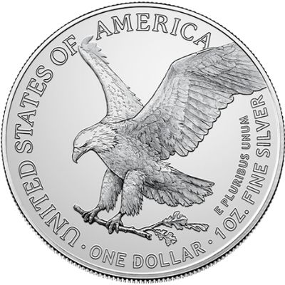 2021 American Silver Eagle New Reverse