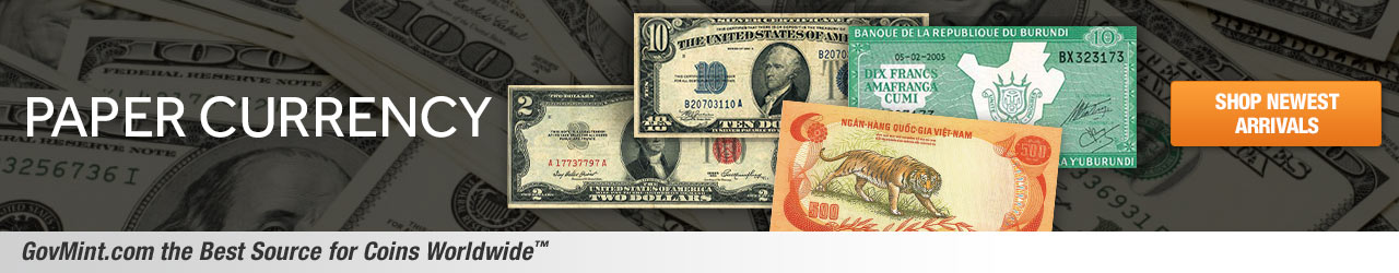 Paper Currency Category Banner