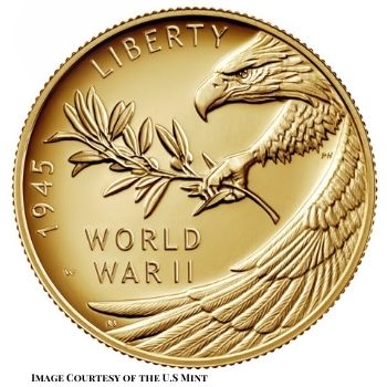 75th Anniversary of the End of World War II Gold Coin Obverse