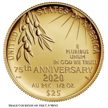 End of World War II 75th Anniversary Reverse