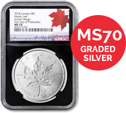 MS70 Graded Silver